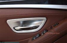 Matt Chrome Interior Door Handle Cover Frame Trim For BMW 5 Series F10 F11 2011+
