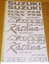 Katana 750 Graphics Sticker Decals gsxr side Fender Tank Emblems