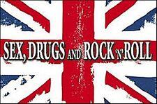 Sex Drugs Rock N Roll Union Flag steel fridge magnet   (cv)