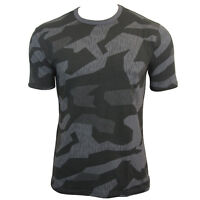 Classic Mens T-Shirt Military Top Army Combat Tee Cotton Night Camouflage S-XXL