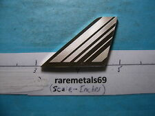 AIR FRANCE AIRLINES TAIL FIN SILVER ART BAR COOL RARE PIECE