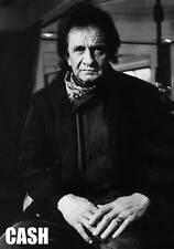 "Johnny Cash Great B/W 90's portrait 34""x 24"" POSTER"