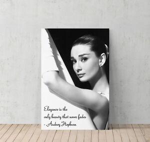 Audrey Hepburn Quotes with Ballerina Picture Decorative Art Canvas Print Modern