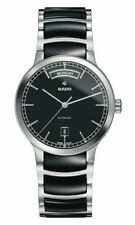 Rado Centrix Automatic Day-Date Steel Black Ceramic Mens Watch R30156152