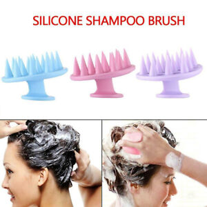 Silicone Shampoo Scalp Massager Hair Massage Comb Bath Care Brush Shower Tools