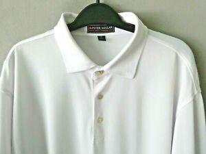 Mens Peter Millar Summer Comfort Solid White Golf Polo Shirt SZ XL Quick Shipped