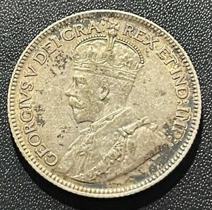 Canada 1936 25 Cents Silver Coin: George V