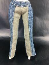 Barbie Doll Denim Two Toned Jeans Blue Beige Flare Bottom