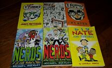 Lot of 5 Middle School Young Adult Books by Patterson- I Funny, Buckley- Nerds
