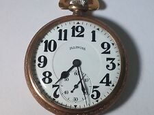 Illinois pocket watch 16S Sangamo 23 Jewels, open face, railroad, rare vintage w