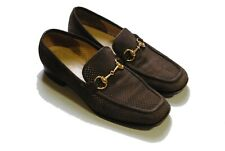 authentic GUCCI men's suede Loafers Size 40 moccasin shoes