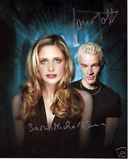 BUFFY - JAMES MARSTERS & SARAH MICHELLE GELLAR AUTOGRAPH SIGNED PP PHOTO POSTER
