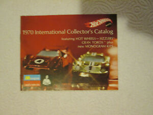 1970 Mattel International Hot Wheels Catalog Redline Sizzlers 24 Color Page