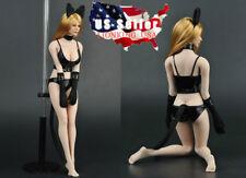 "1/6 Cat Girl Leather Lingerie Set For 12"" Phicen TBLeague Female Figure ❶USA❶"