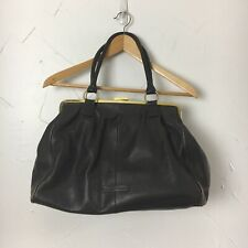 BCBG Maxazria Purse Leather Brown Satchel and Shoulder Large