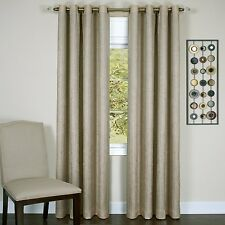 "Taylor Lined Blackout Grommet Window Curtain Panel 50 x 63"" - Tan - 8 Grommet"
