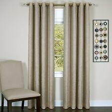 "Taylor Lined Blackout Grommet Window Curtain Panel 50 x 63"" - Tan - 8 Grommet"
