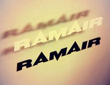 2 x RAMAIR STICKER MEDIUM BLACK - MOTORSPORT CAR WINDOW BIKE SCOOTER
