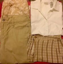 Womens Mixed Clothing Lot, Size 12, White Stag, Faded Glory, Caprs, Top, Shorts