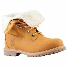 Timberland Women's Teddy Fleece Fold Down Boots Suede Color Wheat 8329R Size 9.5