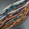 """Natural Gemstone Round Spacer Loose Beads 4mm 15"""" - 16"""" Lot Pick Stone Jewelry"""