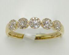 14k YELLOW GOLD HALO DIAMOND BAND