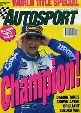 Autosport (17 Oct 1996) Damon Hill World Champion, Japanese GP, Silverstone F3