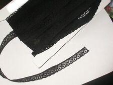 "9/16"" (14mm) Black Flat Lace x 5yards"