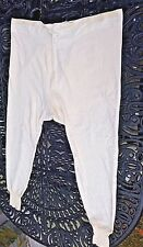 """Vintage Cosy Cotton Terry Cloth Lined Long Johns Underwear 39"""" x 30"""""""