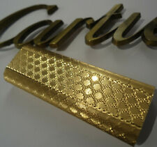 Cartier OVAL Lighter - Gold Plated - Honeycombe - Cased - Briquet/Feuerzeug