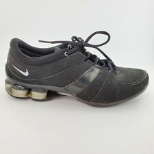 Nike Shox All Black 345791-001 Womens  Size 11 Tennis Shoes Sneakers Work Out