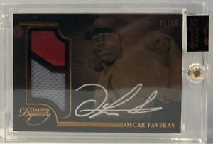 Oscar Taveras 2014 Topps Dynasty 3 Color Patch Autograph # 3/10