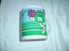 M&M  Coffee Mug GREEN & BLUE Cheer Leaders Sports Football Galerie