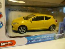 RENAULT MEGANE COUPE JAUNE Mondo Motors 1/43 Neuf boite d'origine