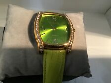 Joan Rivers Classics Women's Lime Green Watch, Leather, Big & Bold with Bling !
