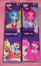 Vintage 2014 My Little Pony Equestria Girls Dolls Rainbow Dash Pinkie Pie NIB