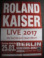 Roland Kaiser-Tourplakat-Konzertplakat-25.3.2017 Berlin-Konzertposter-Poster