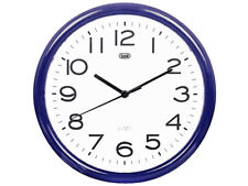 Trevi Wall Clock Silent Ticking 25cm 5 Colours Available Delivery Blue