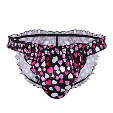 Sissy Mens Print Bikini Briefs Lingerie Thong G-String Panties Pouch Underwear