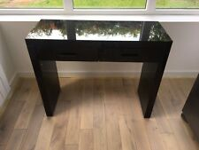 Next Dressing Table Gloss Black Mirror Glass