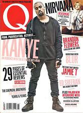 Q Magazine UK Issue 349 August 2015 KANYE WEST Blur NIRVANA Nevermind Special