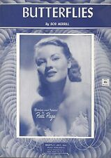 Butterflies Sheet Music Patti Page Bob Merrill Barbelle Cover 1953