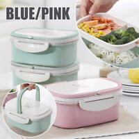 Portable Lunch Box Wheat Straw Picnic Microwave Bento Food Storage Container