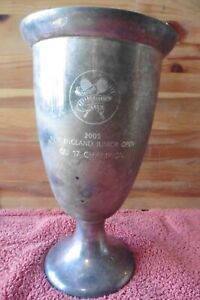 US Squash Racquet Asc. Trophy MA New England Junior Open 2005 Champ Silverplated