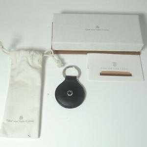 NEW Graf von Faber Castell Key Fob round Classic smooth leather Black 11 89 89