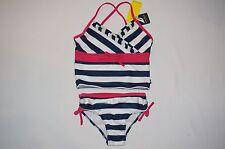 NWT NAUTICA swimwear 2pc set GIRL size 7 navy blue pink