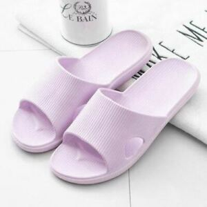 1 Pair Women Summer Slippers Thick Bottom Indoor Home Couples Bathroom Non-slip