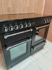 ALL ELECTRIC RANGEMASTER 110 CM RANGE COOKER IN BLACK AND CHROME. REF--A12