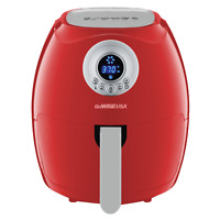 GoWISE USA 3.7-Qt. 1200 Watts Countertop Digital Air Fryer, Red