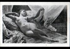 """ART PEINTURE / FEMME au REVEIL """"NU"""" par GLAIZE / pas légendée"""